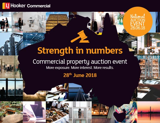 Commercial property auction event.